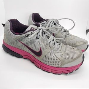 Nike Zoom Structure +15 Pink Gray Running Shoes